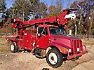 Telelect Commander 4045, Digger Derrick, rear mounted on, 1999 International 4700 Flatbed/Utility Truck