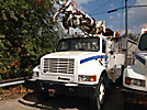 Telelect Commander 4045, Digger Derrick, rear mounted on, 1999 International 4700 Utility Truck