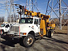 Telelect Commander 4045, Digger Derrick, rear mounted on, 2000 International 4800 4x4 Flatbed/Utility Truck