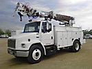 Telelect Commander 4045, Digger Derrick, rear mounted on, 2001 Freightliner FL70 Utility Truck