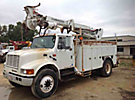Telelect Commander 4045, Digger Derrick, rear mounted on, 2001 International 4700 Flatbed/Utility Truck