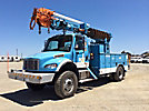 Telelect Commander 4045, Digger Derrick, rear mounted on, 2006 Freightliner M2 106 4x4 Utility Truck