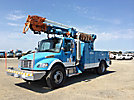 Telelect Commander 4045, Digger Derrick, rear mounted on, 2006 Freightliner M2 106 Utility Truck