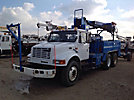 Telelect Commander 4045, Digger Derrick mounted behind cab on 2000 International 4900 T/A Flatbed Truck