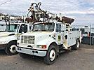 Telelect Commander 4045, Digger Derrick rear mounted on 1999 International 4700 Utility Truck