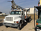 Telelect Commander 4045, Digger Derrick rear mounted on 2002 International 4700 Utility Truck