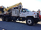 Telelect Commander 4045, Hydraulic Crane (Rock Drill), rear mounted on, 2001 Chevrolet C8500 T/A Flatbed Truck