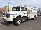 Telelect Commander 4045, Hydraulic Truck Crane, mounted behind cab on, 1997 Freightliner FL80 4x4 Extended-Cab Utility Truck