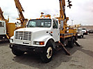 Telelect Commander 4045, rear mounted on, 1998 International 4700 Flatbed Truck