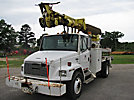 Telelect Commander 4047, Digger Derrick, rear mounted on, 2000 Freightliner FL70 Flatbed/Utility Truck