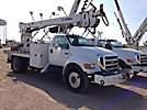 Telelect Commander 4047, Digger Derrick, rear mounted on, 2006 Ford F750 Flatbed/Utility Truck