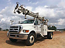 Telelect Commander 4047, Digger Derrick, rear mounted on, 2007 Ford F750 Flatbed/Utility Truck