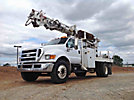 Telelect Commander 4047, Digger Derrick, rear mounted on, 2007 Ford F750 Utility Truck