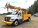 Telelect Commander 4047, Digger Derrick rear mounted on 2008 Ford F750 Flatbed/Utility Truck