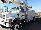 Telelect Commander 4047, Hydraulic Crane, rear mounted on, 2000 International 4800 4x4 Utility Truck