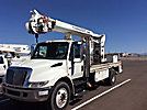 Telelect Commander 4047, Hydraulic Crane, rear mounted on, 2002 International 4400 Utility Vehicle