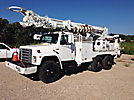Telelect Commander 5000, Digger Derrick, rear mounted on, 1985 International F-1954 T/A Flatbed/Utility Truck