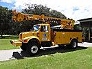 Telelect Commander 5050, Digger Derrick, rear mounted on, 2001 International 4800 4x4 Utility Truck