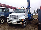 Telelect Commander 6000, Digger Derrick rear mounted on 2000 International 4900 T/A Flatbed Truck