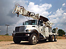 Telelect Commander 6060, Digger Derrick rear mounted on 2005 International 7400 T/A Flatbed/Utility Truck