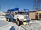 Telelect Commander 92-45, Digger Derrick, mounted behind cab on, 1999 International 4900 T/A Flatbed Truck