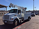 Telelect L4040, Hydraulic Crane, rear mounted on, 2006 Sterling L7500 Utility Truck