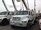 Telelect L4042, Hydraulic Crane, corner mounted on, 2001 International 4900 Crew-Cab Utility Truck