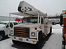 Telelect T-4000, Material Handling Bucket Truck, rear mounted on, 1988 International S1954 Utility Truck