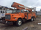 Telelect T5000, Material Handling Elevator Bucket Truck, rear mounted on, 1988 Ford LT8000 T/A Utility Truck