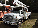 Telelect T5070, Material Handling Elevator Bucket Truck, rear mounted on, 1989 Ford F900 T/A Utility Truck
