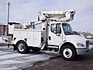 Telelect TL41M, Articulating & Telescopic Material Handling Bucket Truck mounted behind cab on 2006 Freightliner M2 106 Utility Truck