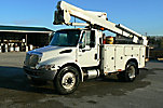 Telelect TL41M, Articulating & Telescopic Material Handling Bucket Truck mounted behind cab on 2006 International 4300 Utility Truck
