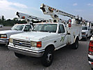 Telsta 28D, Telescopic Non-Insulated Bucket Truck mounted behind cab on 1991 Ford F450 Service Truck