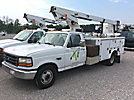Telsta 28D, Telescopic Non-Insulated Bucket Truck mounted behind cab on 1997 Ford F350 Service Truck