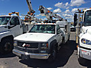 Telsta A28D, Telescopic Bucket Truck mounted behind cab on 1999 Chevrolet C3500 Service Truck