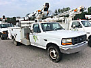 Telsta A28D, Telescopic Non-Insulated Bucket Truck mounted behind cab on 1997 Ford F350 Service Truck