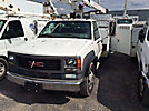 Telsta A28D, Telescopic Non-Insulated Bucket Truck mounted behind cab on 1999 GMC C3500HD Service Truck