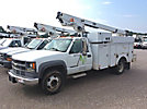 Telsta A28D, Telescopic Non-Insulated Bucket Truck mounted behind cab on 2001 Chevrolet C3500HD Service Truck