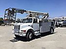 Telsta T40C, Telescopic Non-Insulated Cable Placing Bucket Truck center mounted on 1995 International 4700 Utility Truck