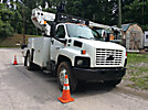 Telsta T40C, Telescopic Non-Insulated Cable Placing Bucket Truck center mounted on 2008 Chevrolet C7500 Utility Truck