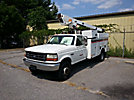 Telsta/MTI A28D, Telescopic Non-Insulated Bucket Truck, mounted behind cab on, 1997 Ford F450 Service Truck