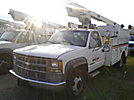 Telsta/MTI A28D, Telescopic Non-Insulated Bucket Truck, mounted behind cab on, 1999 Chevrolet C3500 Service Truck