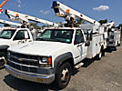 Telsta/MTI A28D, Telescopic Non-Insulated Bucket Truck, mounted behind cab on, 1999 Chevrolet C3500HD Service Truck