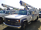 Telsta/MTI A28D, Telescopic Non-Insulated Bucket Truck, mounted behind cab on, 2000 Chevrolet C3500 Service Truck
