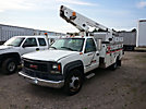 Telsta/MTI A28D, Telescopic Non-Insulated Bucket Truck, mounted behind cab on, 2000 GMC C3500 Service Truck