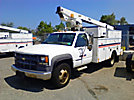 Telsta/MTI A28D, Telescopic Non-Insulated Bucket Truck, mounted behind cab on, 2001 Chevrolet C3500 Service Truck
