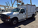 Telsta/MTI A28D, Telescopic Non-Insulated Bucket Truck, mounted behind cab on, 2001 Ford F450 Enclosed Service Truck