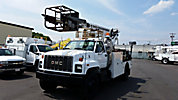 Telsta/MTI T40C, Telescopic Non-Insulated Cable Placing Bucket Truck, center mounted on, 1995 GMC C7500 Utility Truck