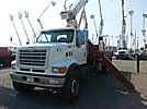 Terex BT3063, Hydraulic Crane, mounted behind cab on, 2002 Sterling LT7500 T/A Flatbed Truck