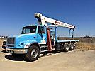 Terex BT3470, Hydraulic Crane, mounted behind cab on, 2003 Freightliner FL112 T/A Flatbed Truck
